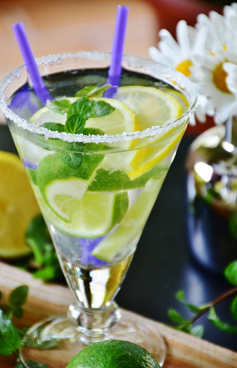 lime, drink, mineral water