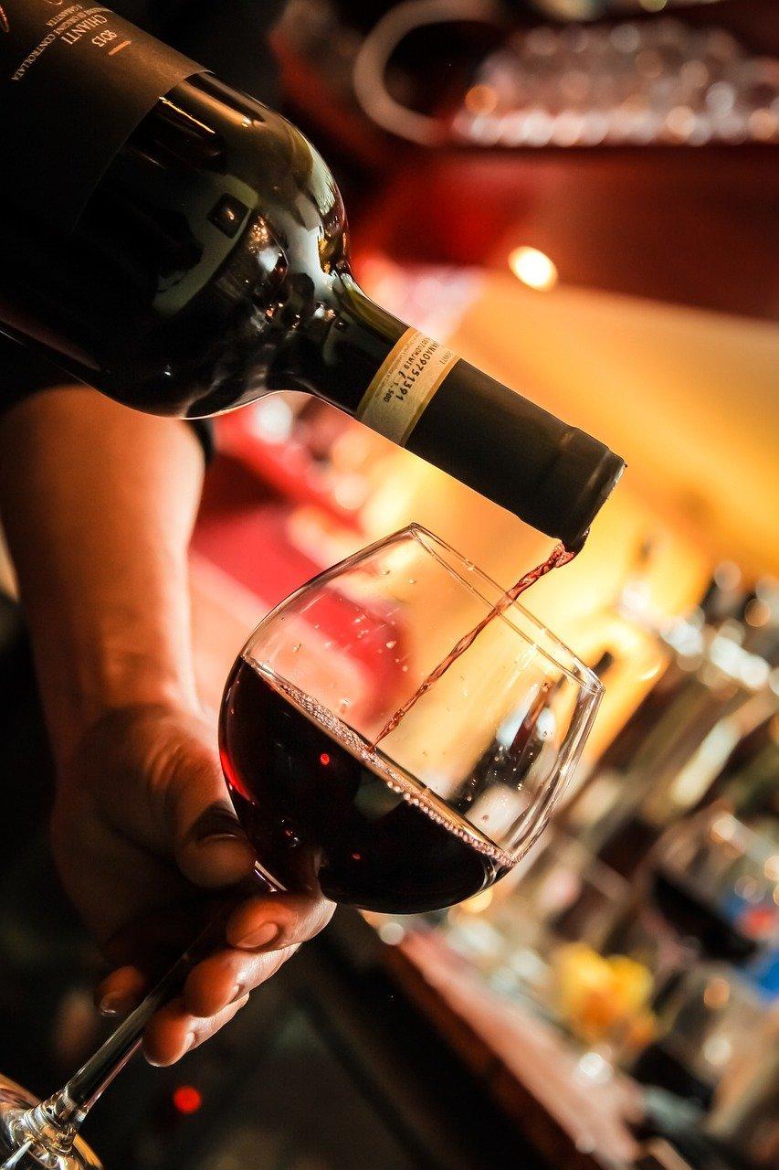 wine, glass, bottle