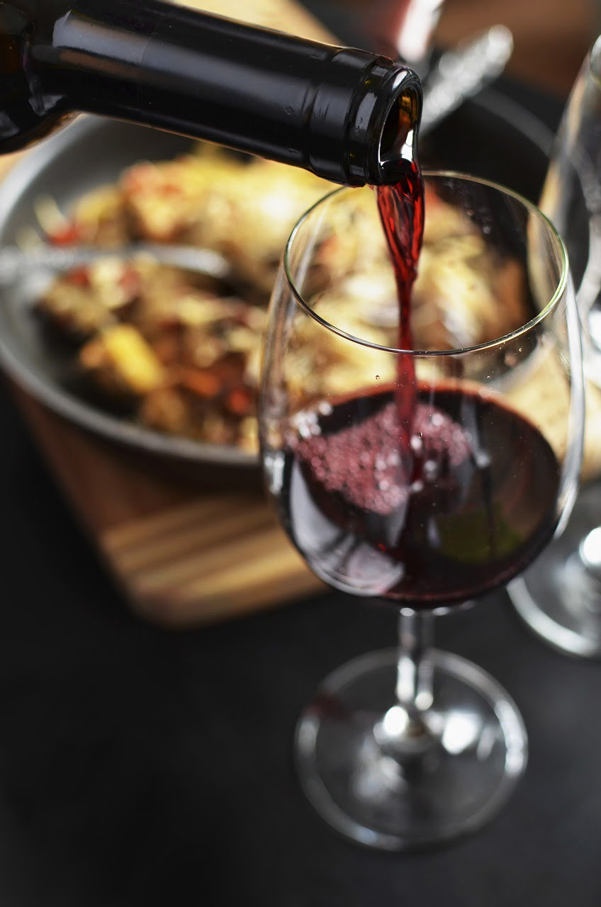 wine, red, bottle