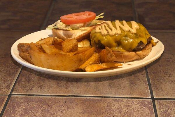 Wine-Knot Cheese Burger